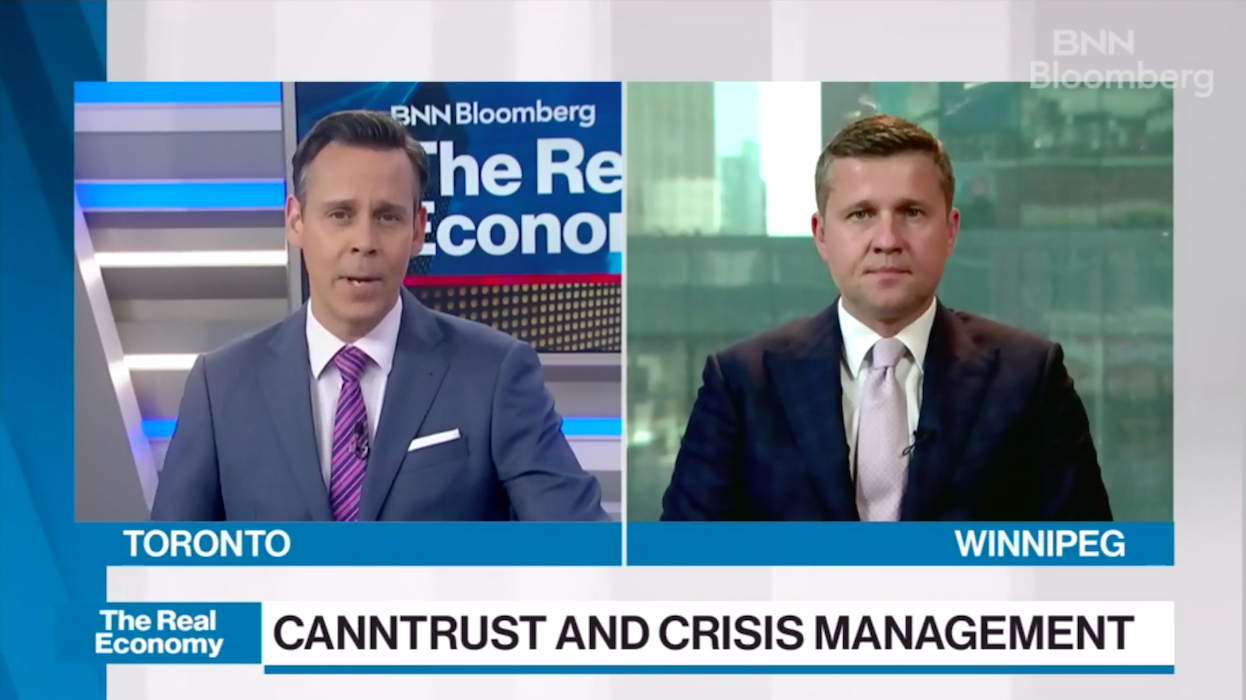 CLICK IMAGE TO WATCH ENTIRE SEGMENT  Our Managing Partner Wojtek Dabrowski spoke with BNN Bloomberg's Greg Bonnell about the growing scandal clouding CannTrust and its CEO's future, amid a plummeting stock price and Health Canada investigation.