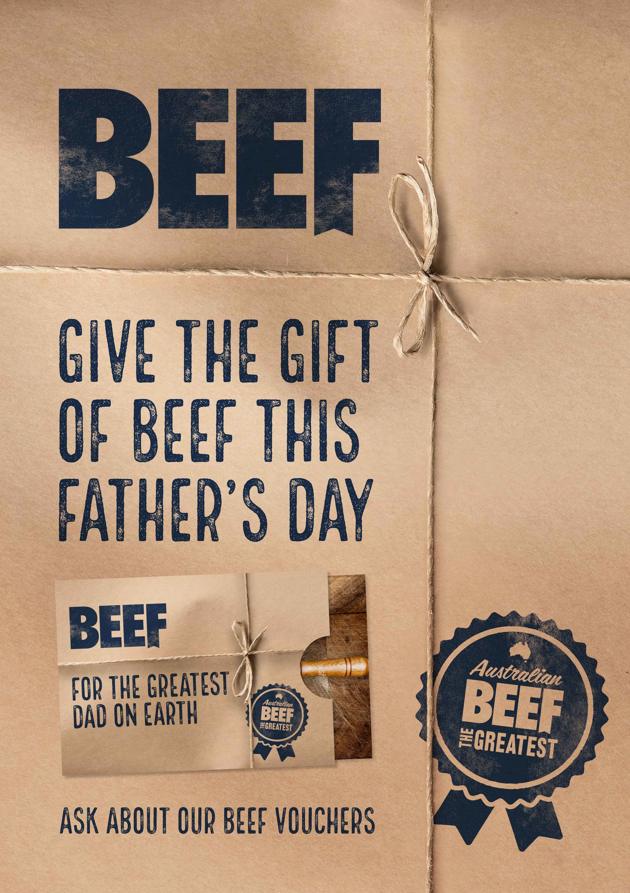 Beef. The Greatest. - Father's Day In-Store Poster