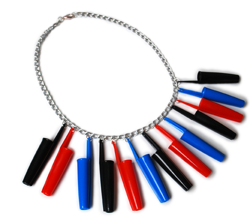 SMALL Plastic_Seconds_3COLOUR_Upcycled_Biro_Lids_Necklace_Sideways.jpg