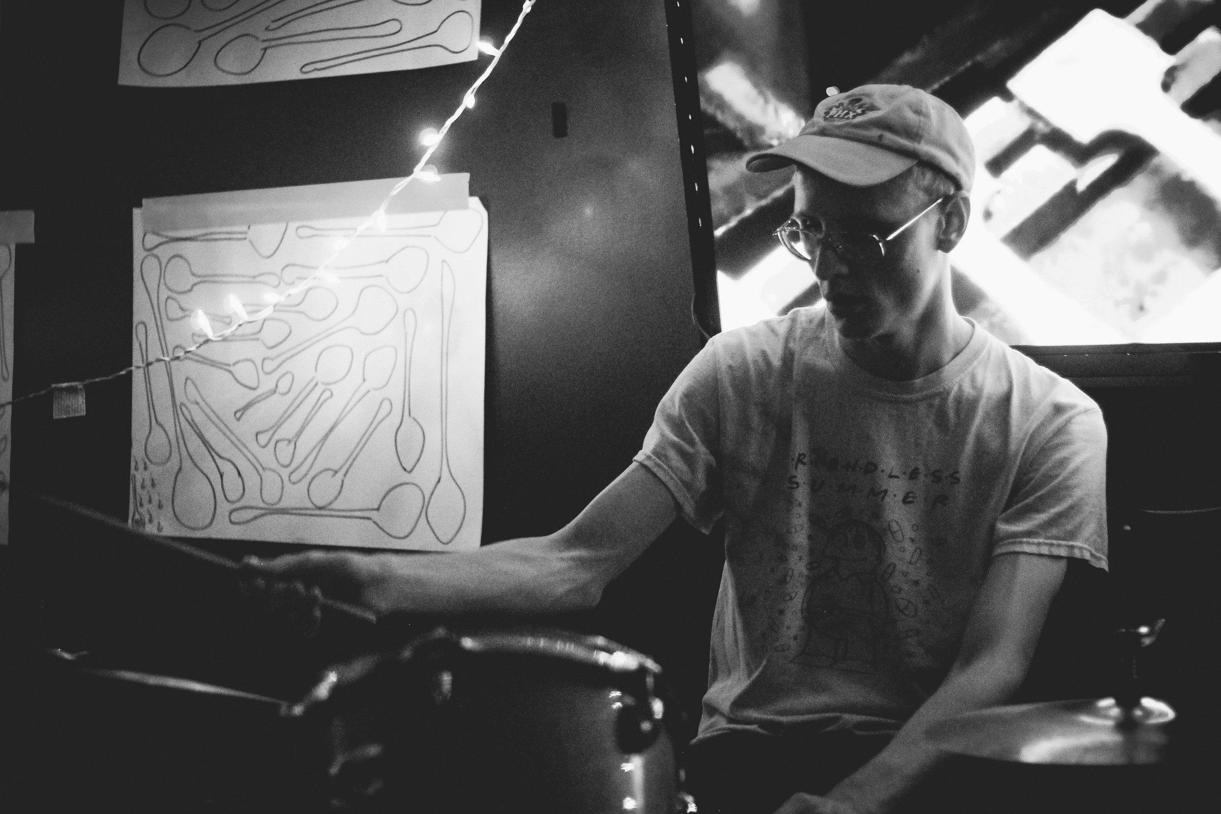 Pro Teens drummer Matt Tanner with Spoon Art