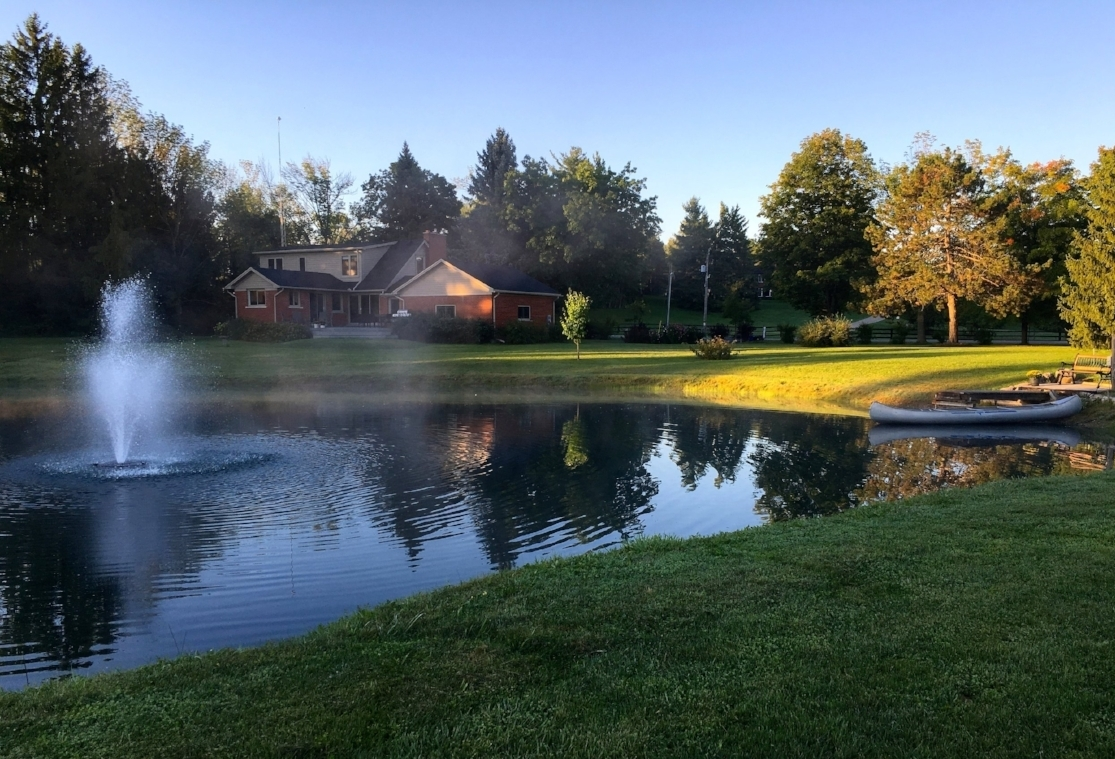 SOLD  Fabulous 5 acres, pond, organic garden completely renovated, adjacent to Kelso.