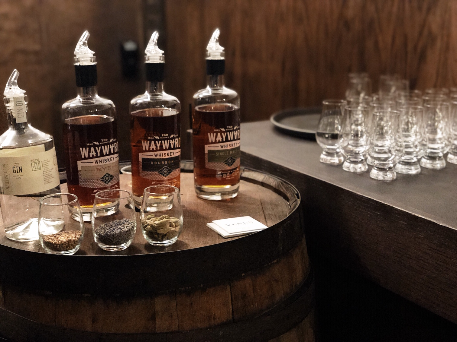Wayward Whiskey product lineup