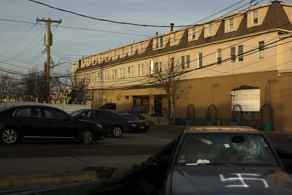 The Midland Motor Inn in Midland Beach, Staten Island, four months after Hurricane Sandy.