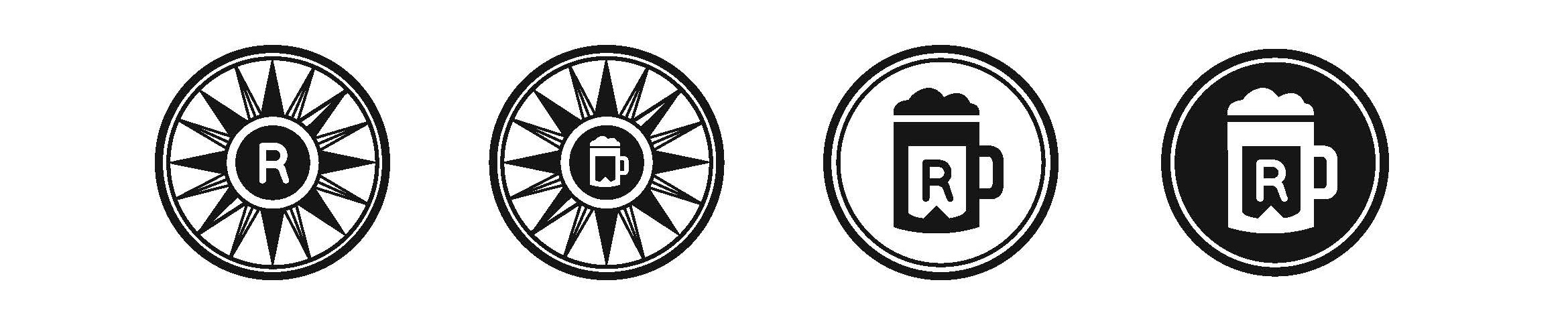 Brand system:black and white icons
