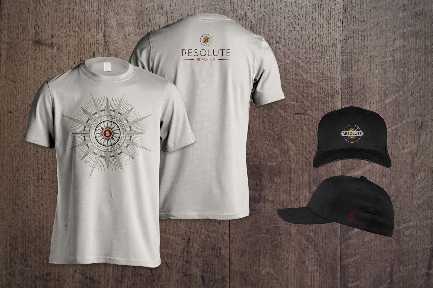 T-shirt and hat designs