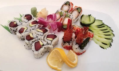 Lunch special combo - tuna roll & shrimp tempura.JPG