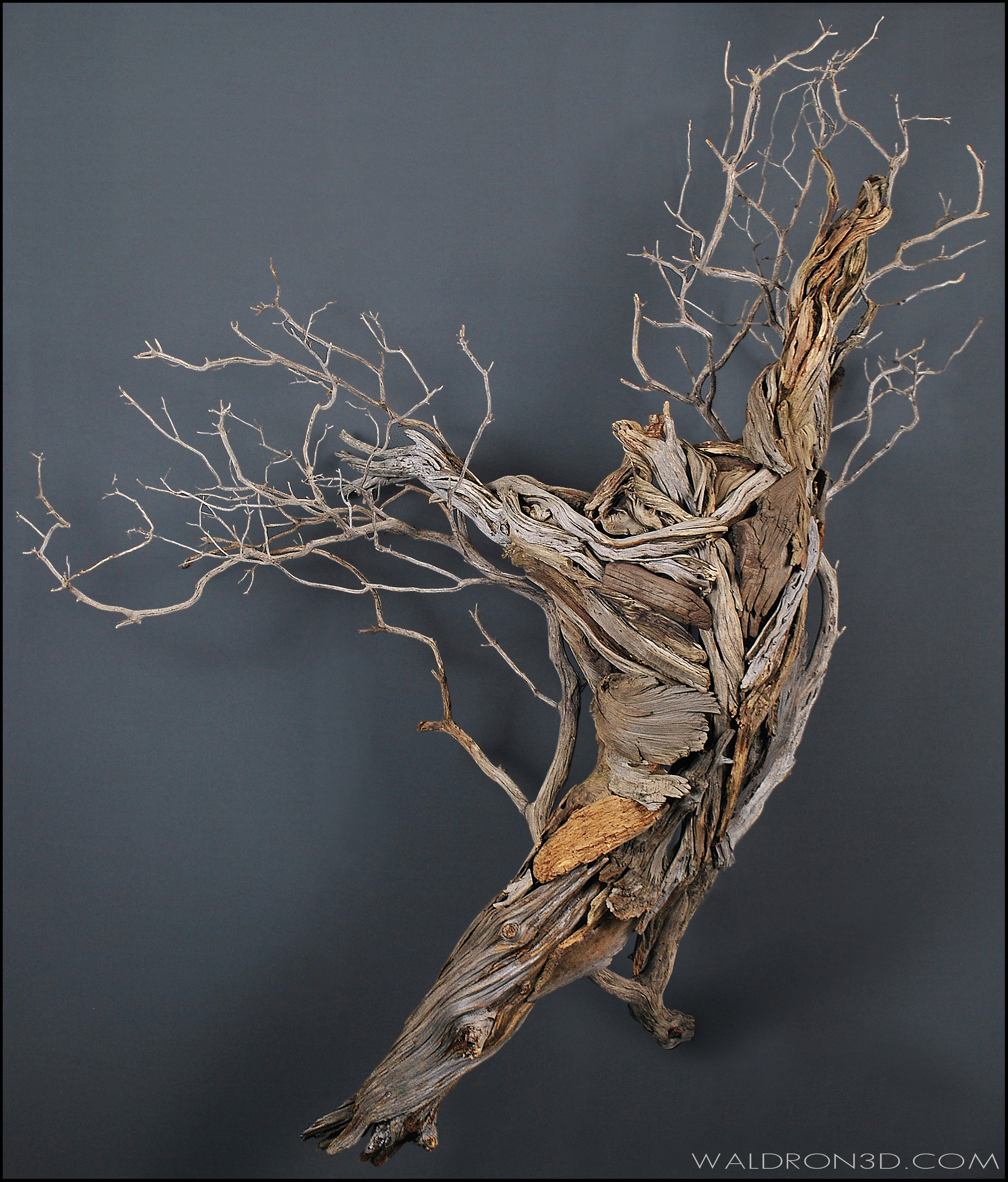 || GRACE || WALDRON 3D SCULPTURAL EXPRESSIONS - CONSTRUCTED FROM FORAGED, WEATHERED PIECES OF HIGH DESERT WOOD.