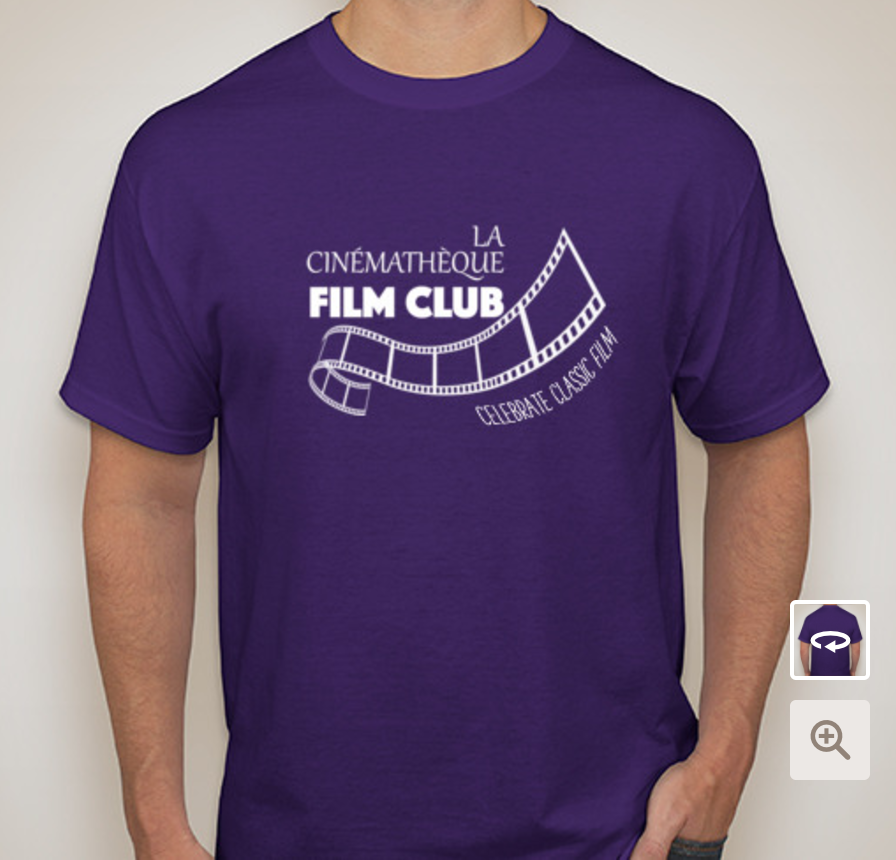 This could be you: dressed in the coziest T-shirt and repping your favorite local film club!