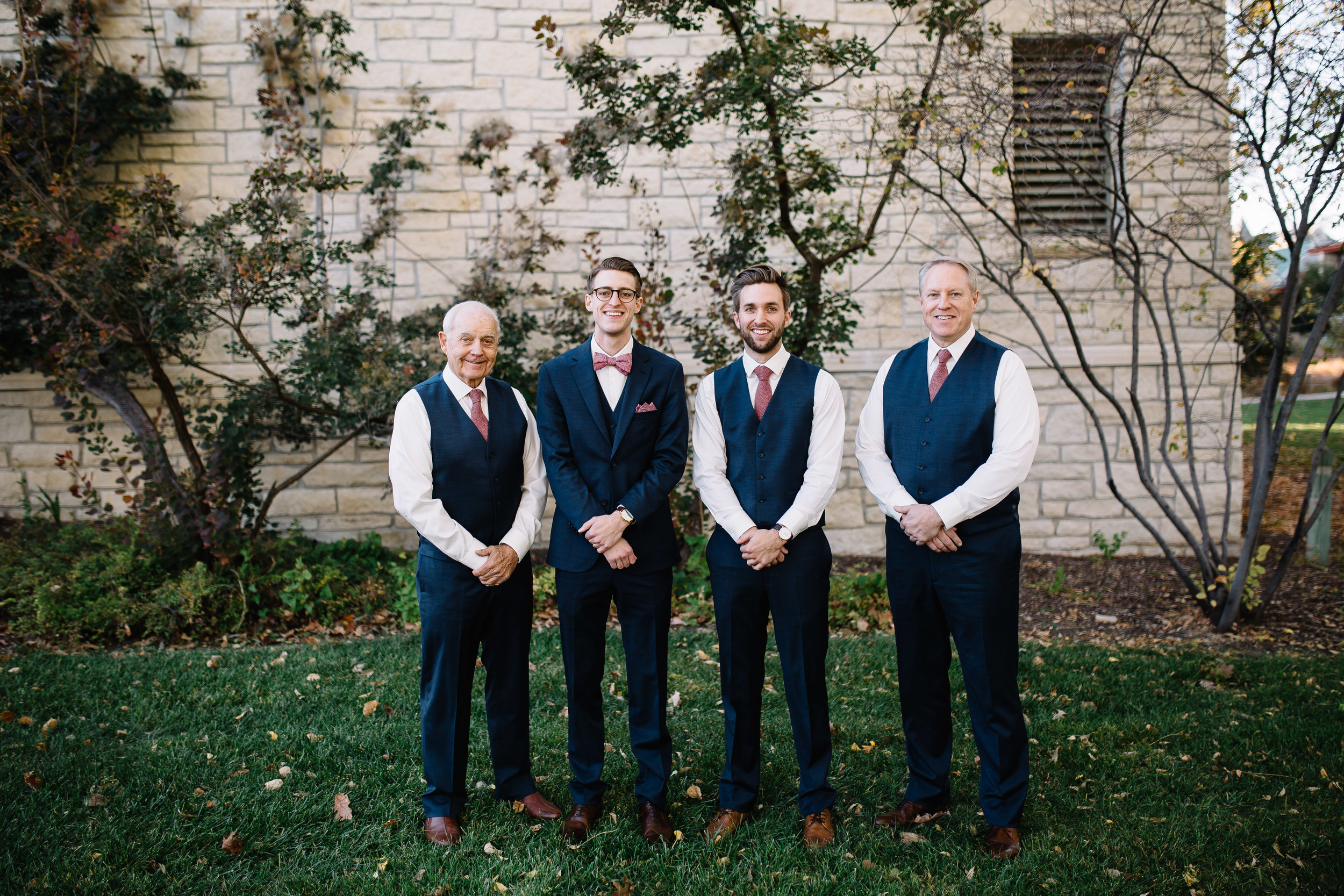 When your groom picks his groomsmen to be his big brother, father and grandpa - your heart kind of melts a bit.
