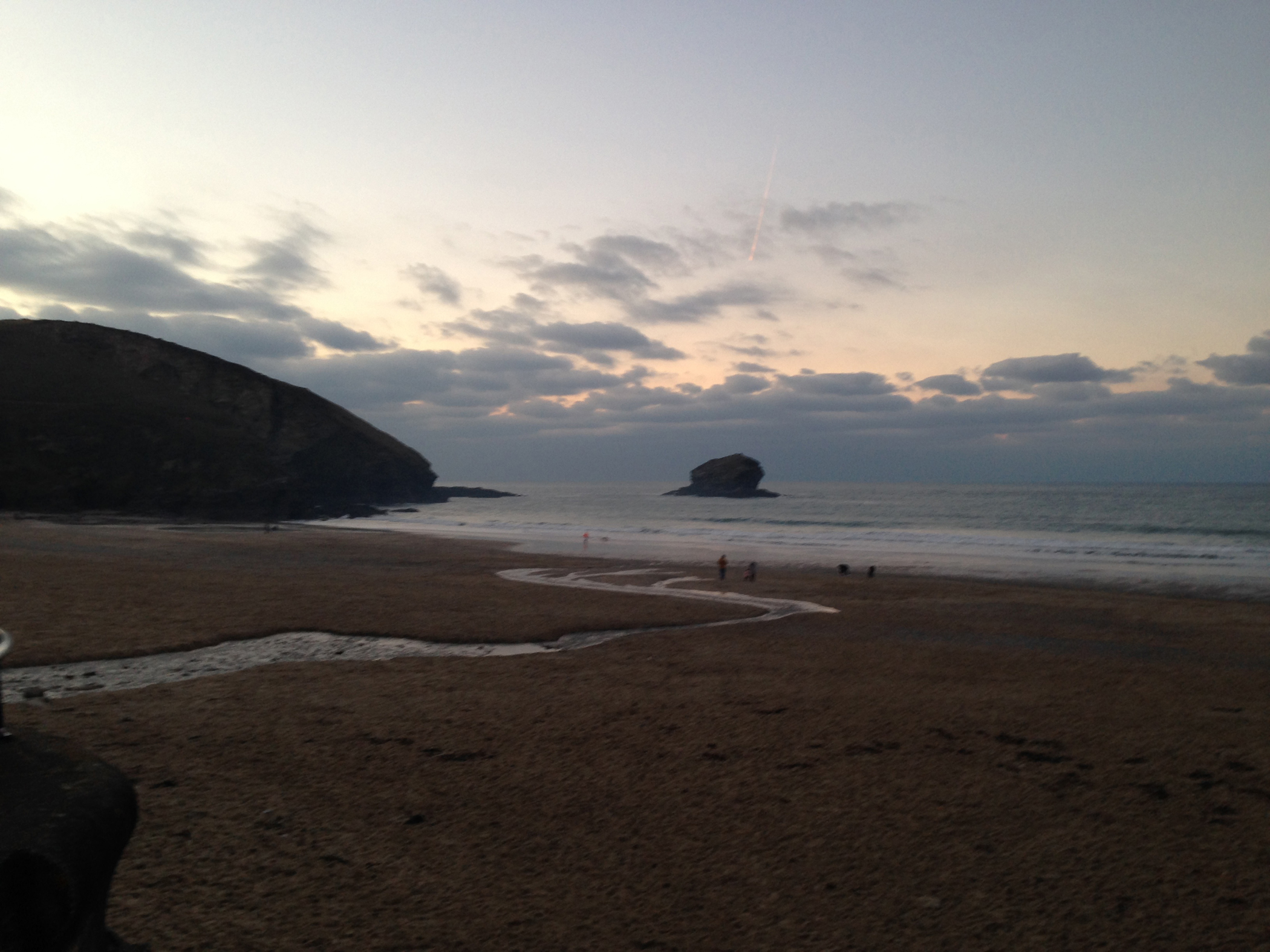 Watching Water Portreath Beach dusk.jpg