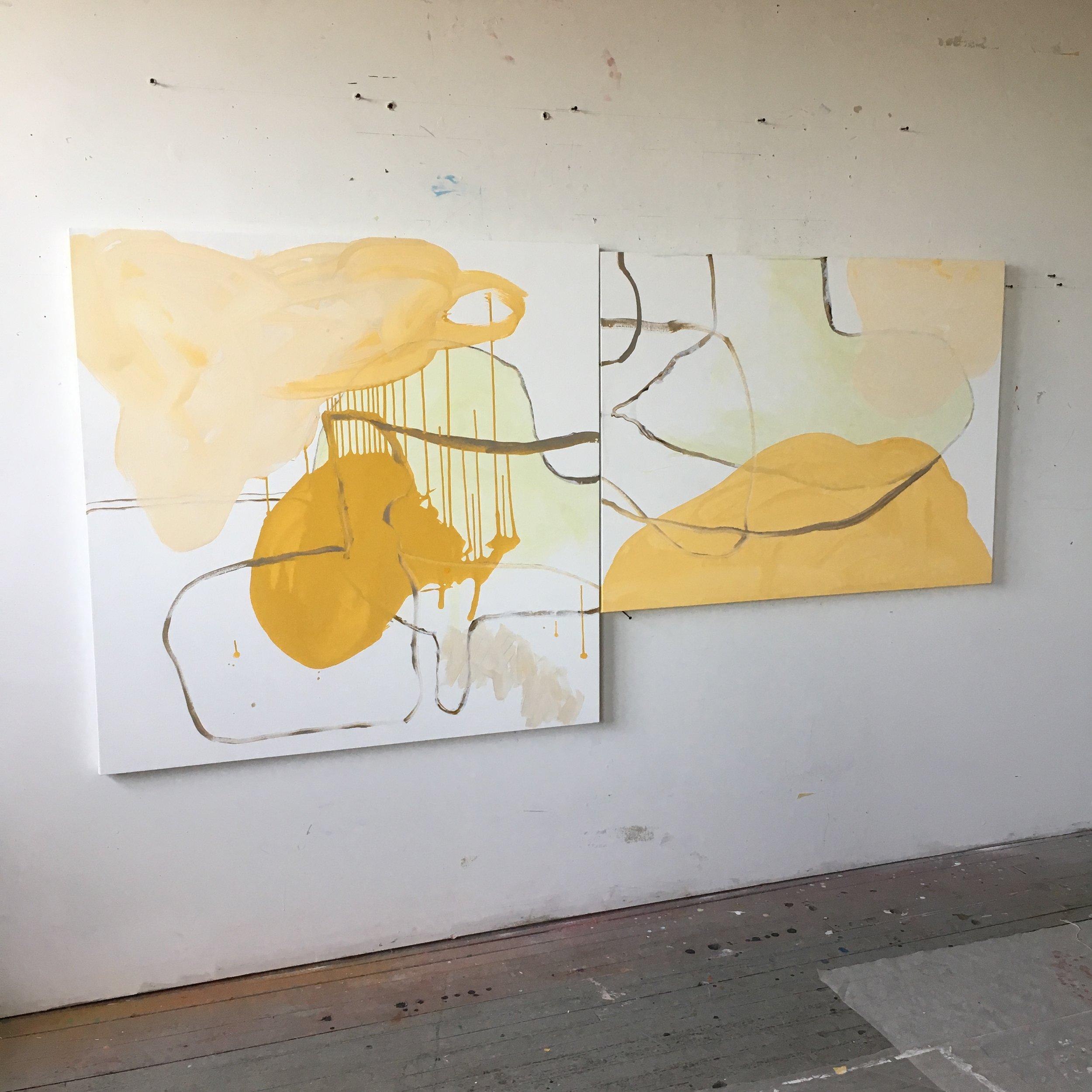 "Untitled, 2017, acrylic on canvas, 96"" x 48"" x 1.5"""