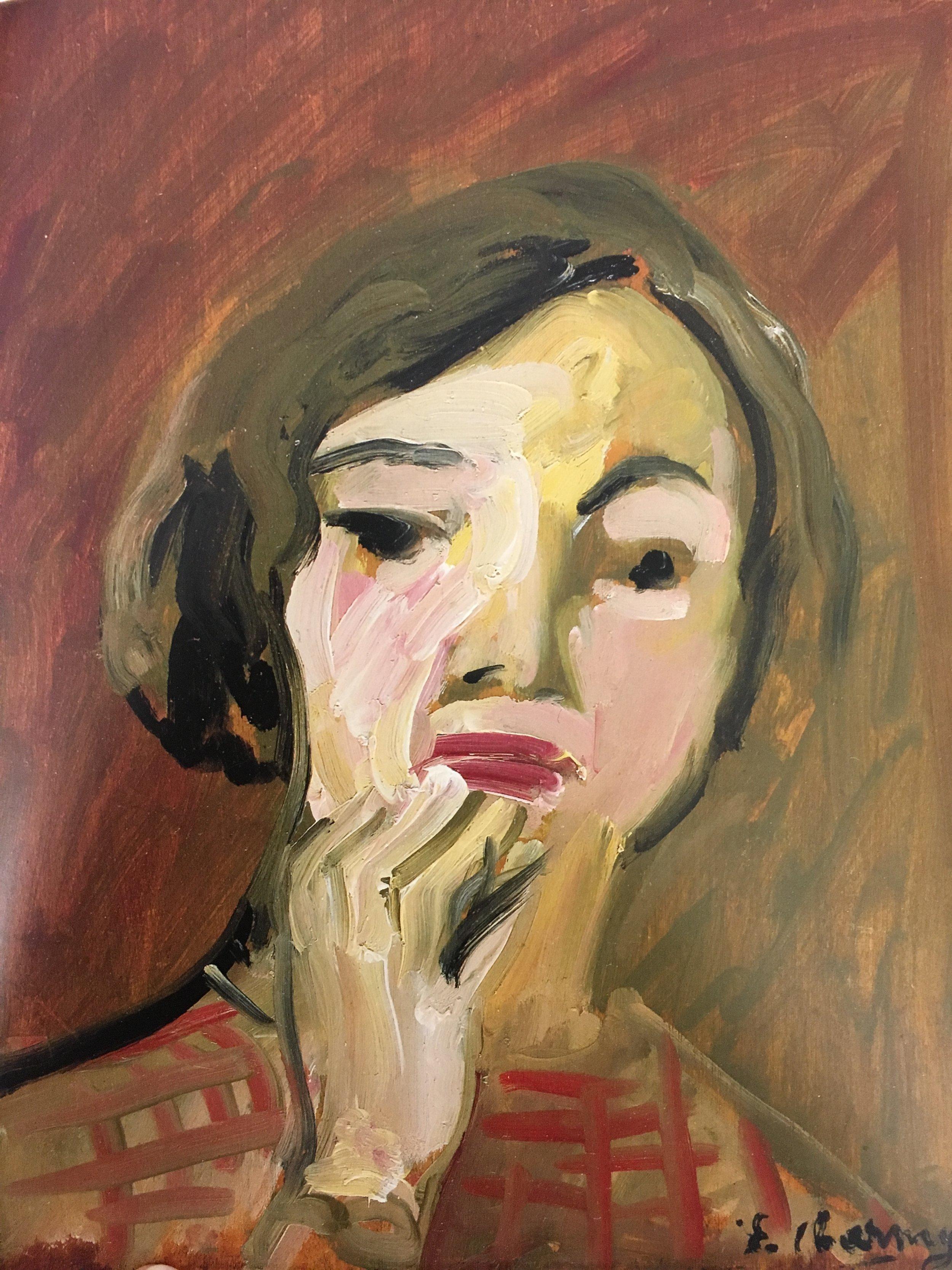"""Self-Portrait , 1910, oil on board, 18 1/8 x 14 15/16"""""""
