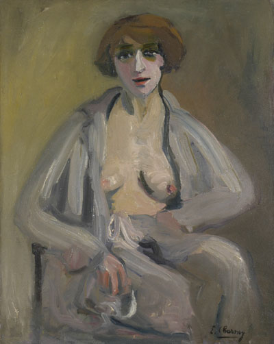 Émilie Charmy,  Self-Portrait in an Open Dressing Gown , 1916-1918