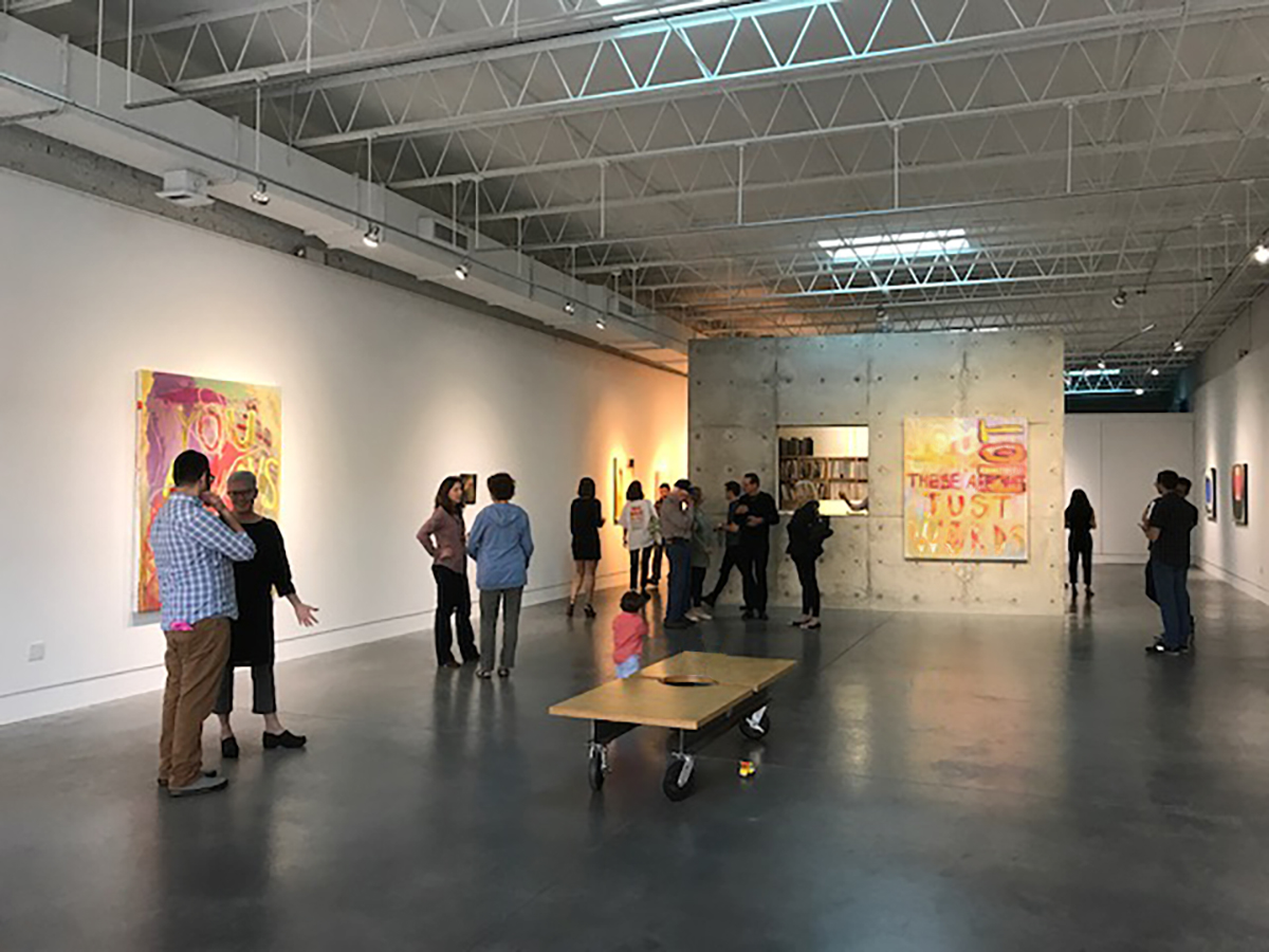 Hiding in Plain Sight  solo exhibition installation, Page Bond Gallery, Richmond, VA, 2017  This exhibition showed a series of seven text paintings.