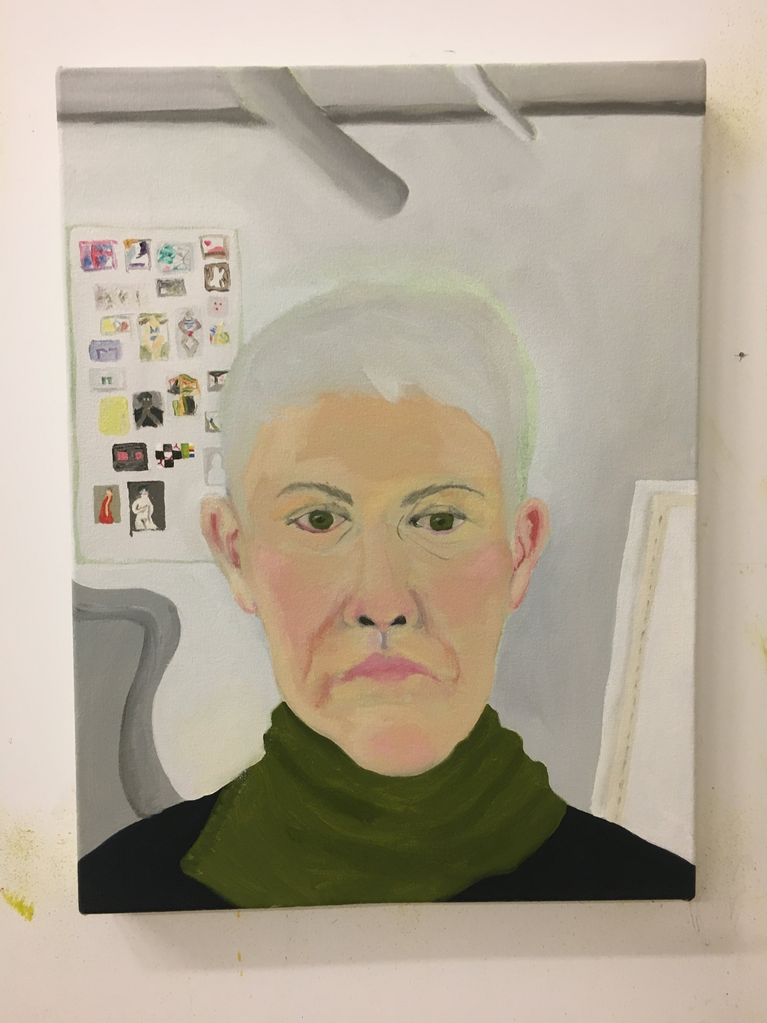 Work in Progress: Self-Portrait with Poster of Women Painters