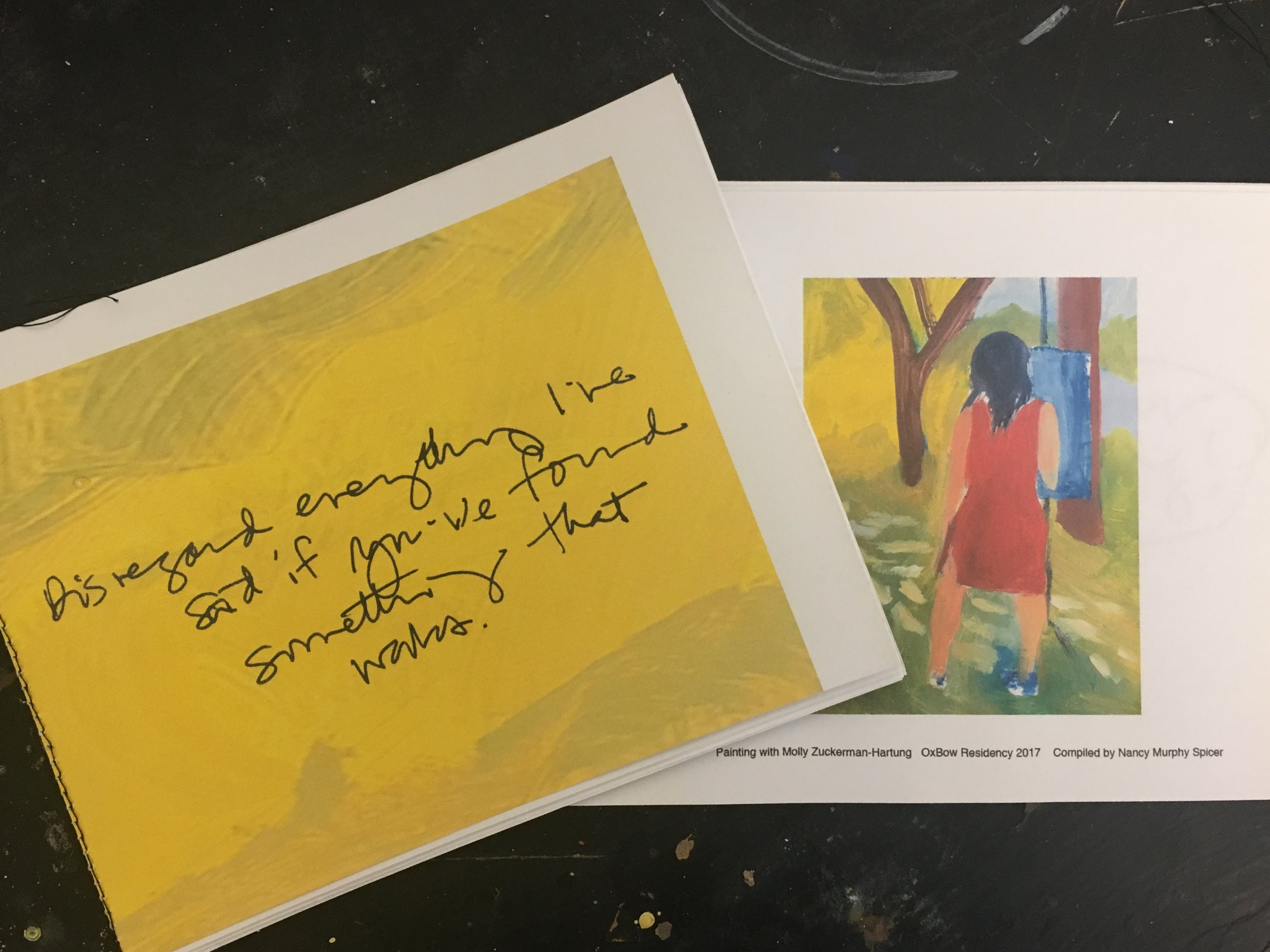 Artists book of painting wisdom from Molly Zuckerman-Hartung