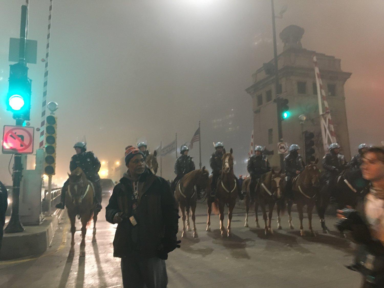Post-Trump election night protests, Chicago, IL, November 2016