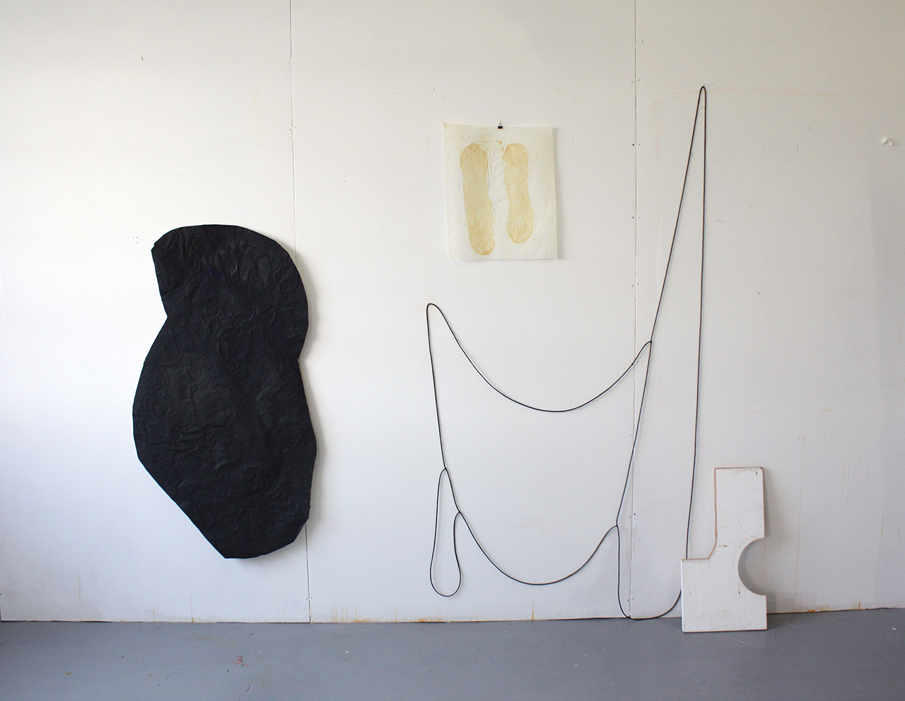 Drawing Objects in the Studio , 2013, paper, wood, mixed media, 10' x 10' x 1'
