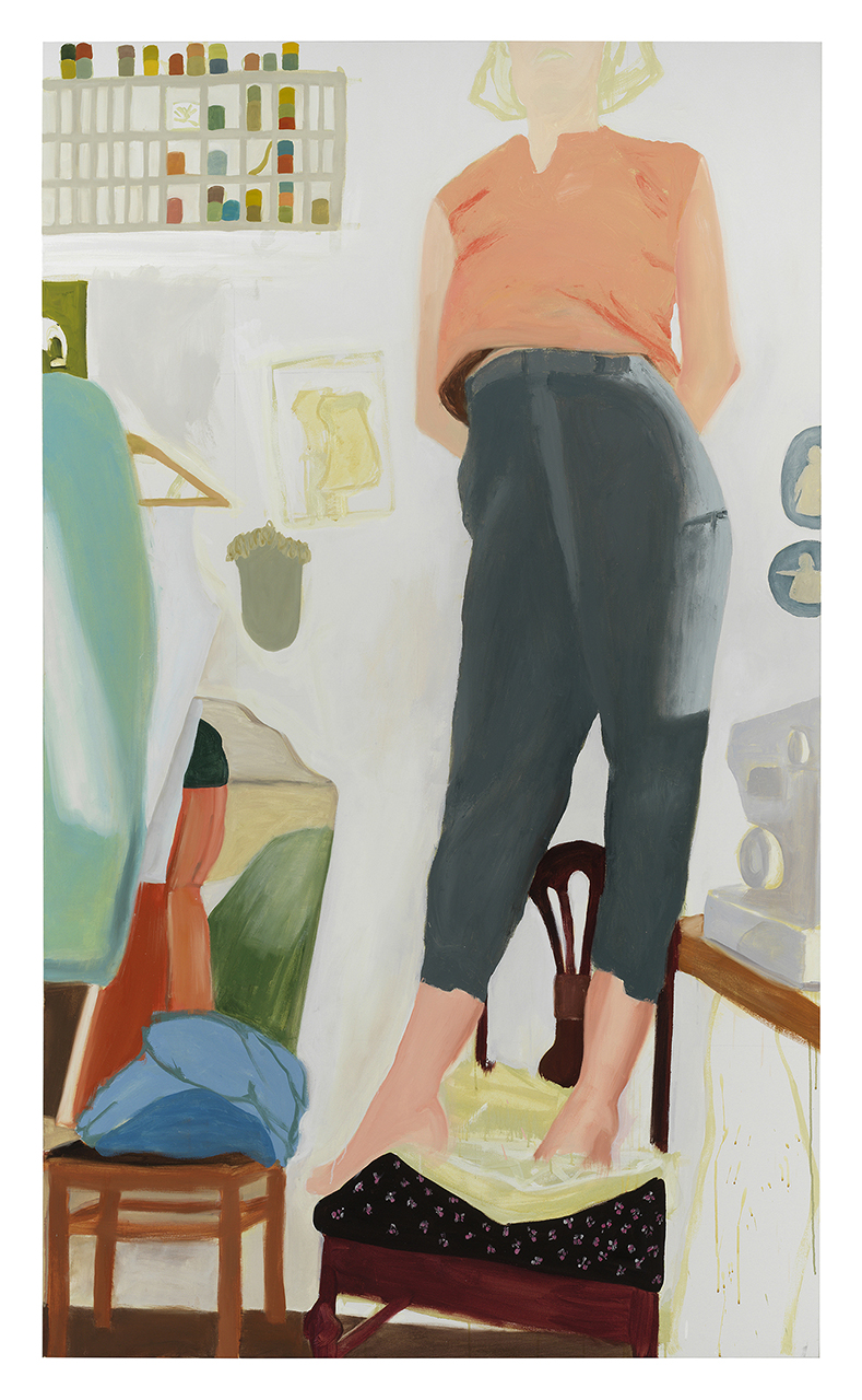 "Anastatia's Trousers , 2018, oil on canvas, 90"" x 54"""