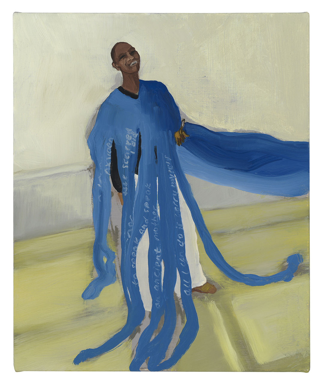 """Pamela in Her Poetry Gown , 2018, oil on canvas, 16.5"""" x 13.5"""""""