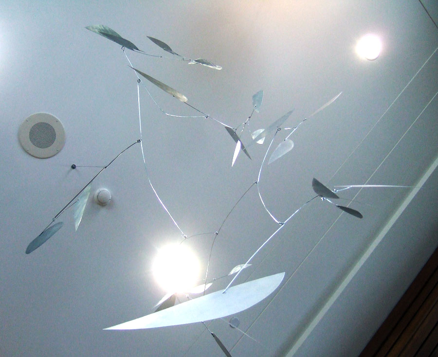 "Eternity's Sunrise Aluminum, steel wire 96"" x 60"" x 60"" 2013 (unavailable)"