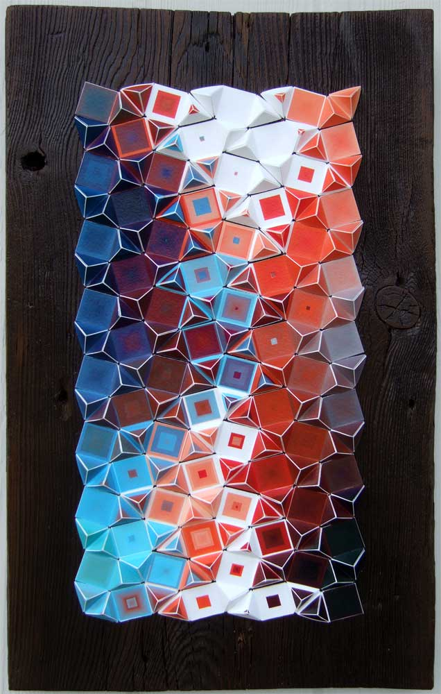 """Fractal Abstraction Archival inkjet print mounted on wood 16"""" x 10"""" x 1"""" 2012 (unavailable)"""