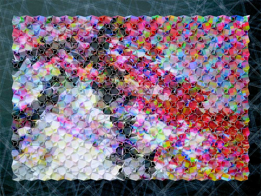 "Werner Sun   Mapmaker's Dream IV , 2016 Archival inkjet prints on board 30"" x 40"" x 3"""