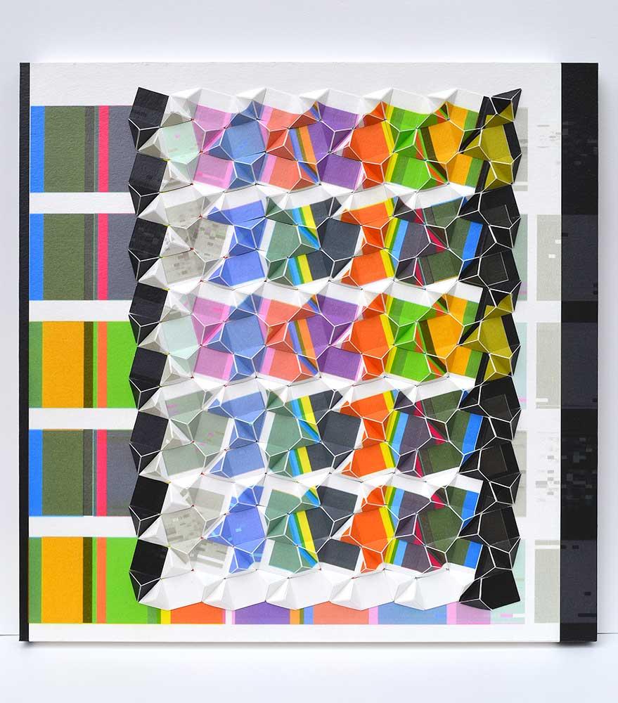"""Summertime Archival inkjet prints mounted on board 16"""" x 16"""" x 1.5"""" 2017"""