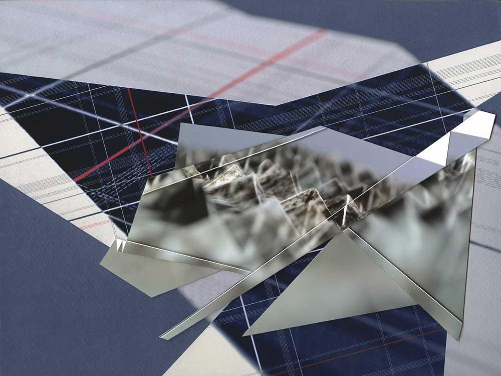 "Werner Sun   Triangulation IV , 2016 Archival inkjet prints on board 12"" x 16"" x 1"""