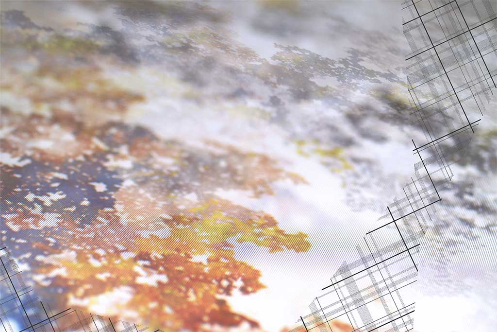 "Werner Sun   Intervention II , 2016 Archival inkjet print, ink 16"" x 24"""