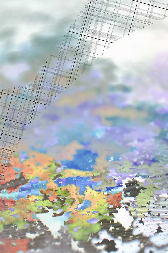 "Werner Sun   Intervention III , 2017 Archival inkjet print, ink 24"" x 16"""