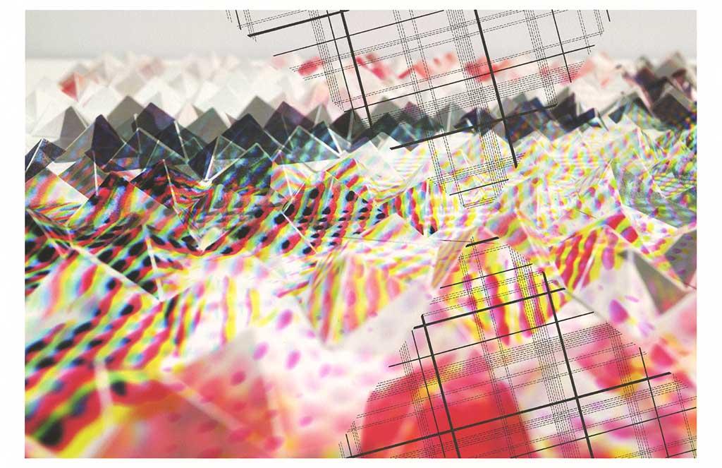 "Werner Sun   Interpretation IX , 2016 Archival inkjet print, ink 8.5"" x 13"""