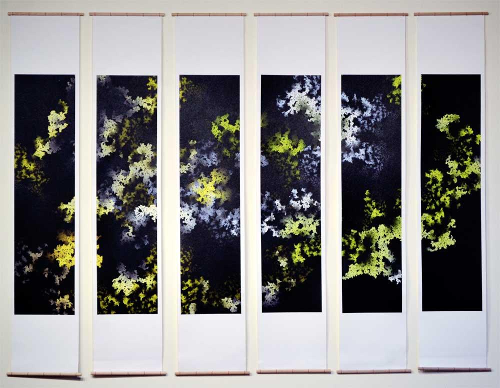 "The Garden Below Archival inkjet print on canvas 45"" x 60"" 2014 (unavailable)"