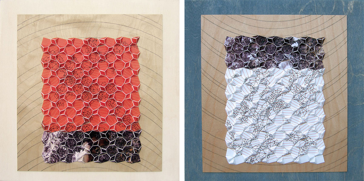"""Homage to Albers [Day, Night] Archival inkjet prints and acrylic on board 12"""" x 12"""" x 1"""" (each) 2013"""