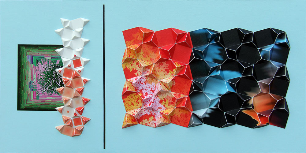"""A Taxonomy of Uncertainty Archival inkjet prints and acrylic on board 12"""" x 24"""" x 1"""" 2012"""