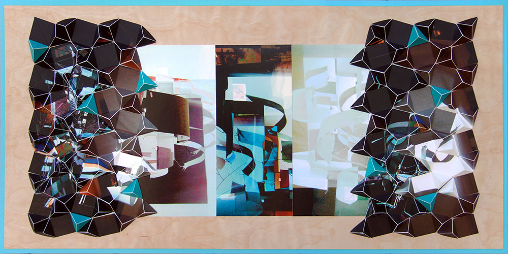 "Manuscript Archival inkjet prints and acrylic on board 12"" x 24"" x 1"" 2012"