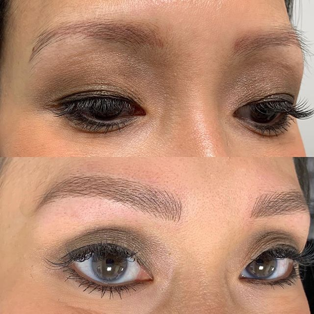 Microblading over another artists work ✨