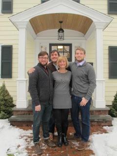 Maryanne & sons Dan, Tim and Ben