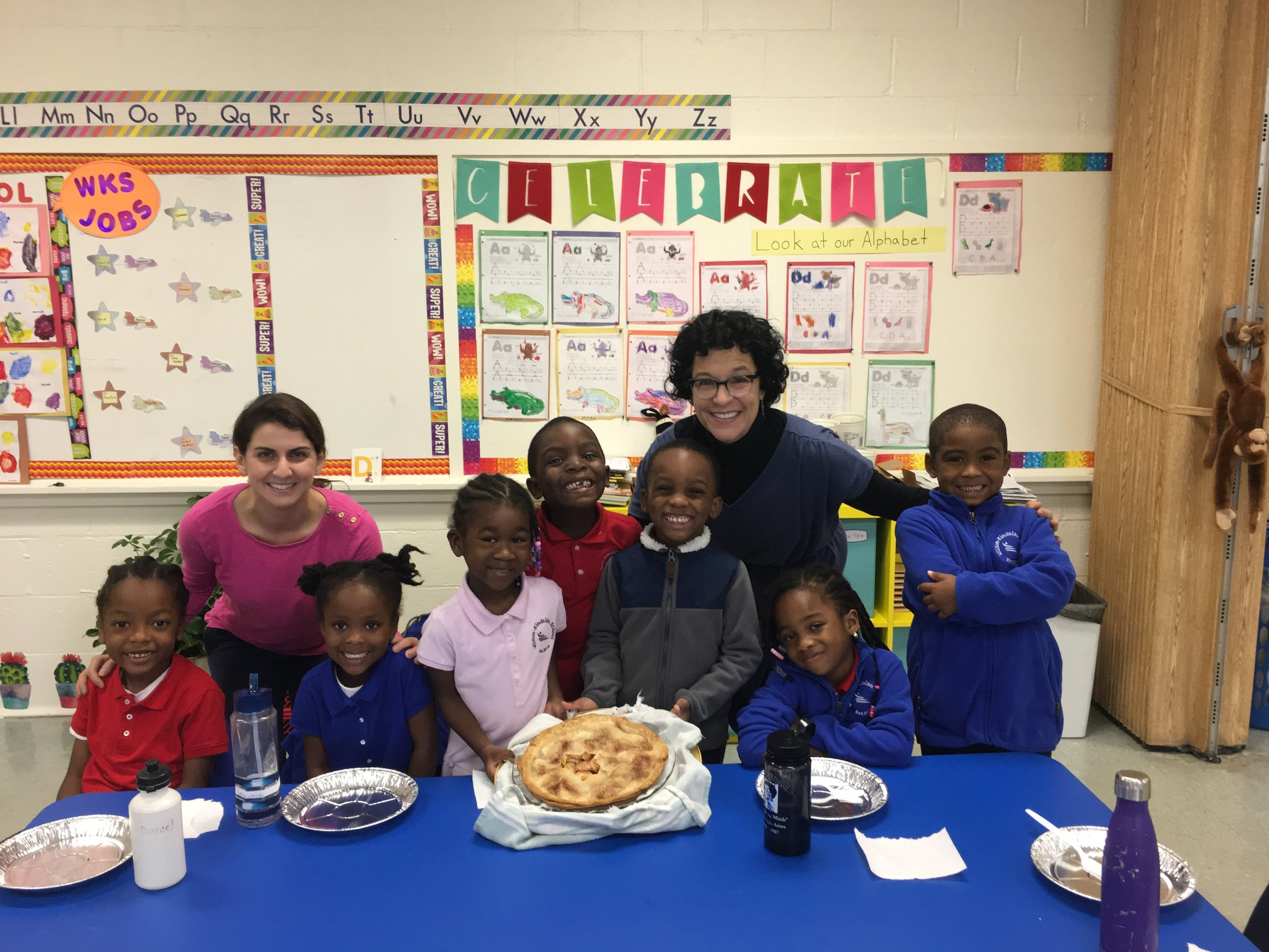 During Language Arts, students listened to a story about apple pie. The next day they were able to try a slice thanks to Ms. V. As delicious as it looked, not everyone was a fan of the sweet tasting dessert.