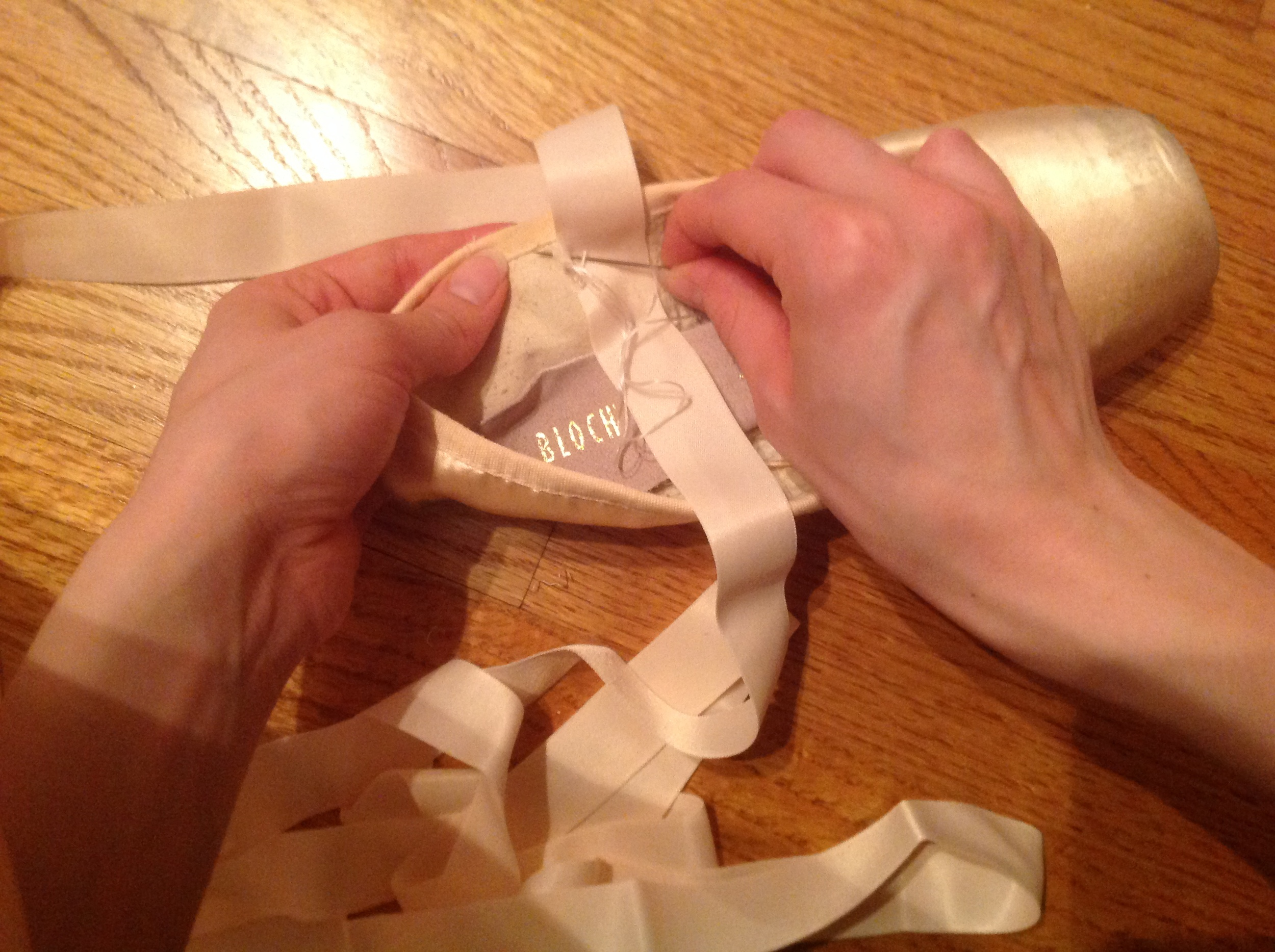 Attaching the ribbons