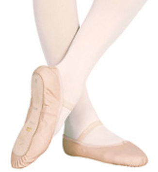 Leather full-sole ballet shoe