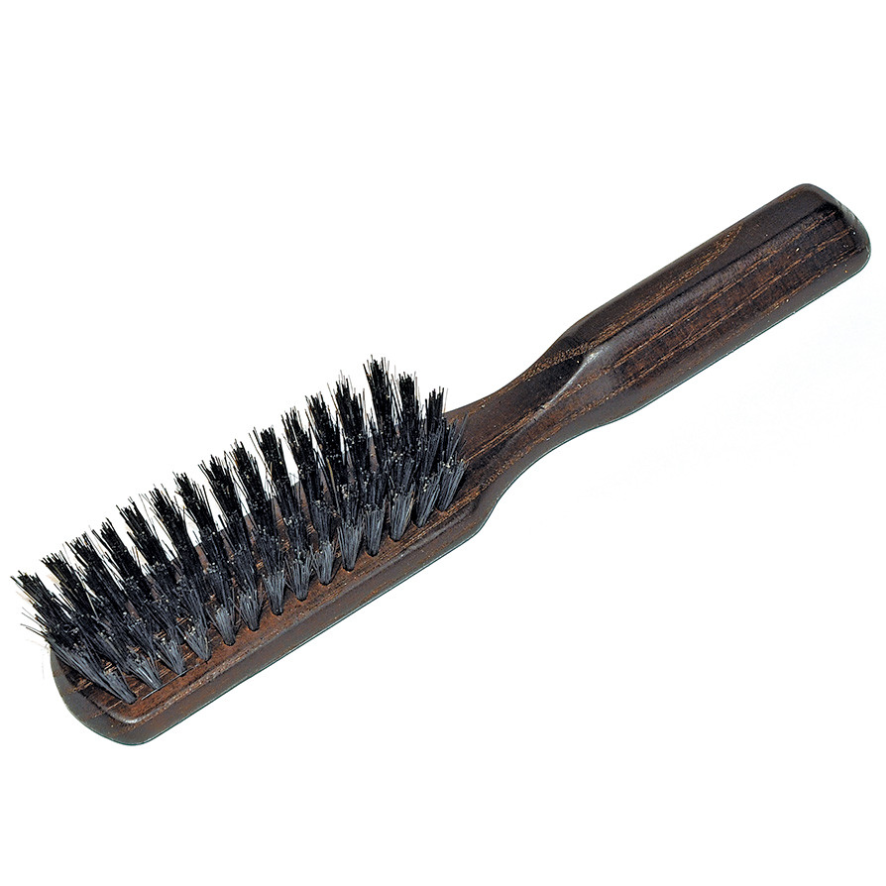brush commonly used for smoothing the ponytail