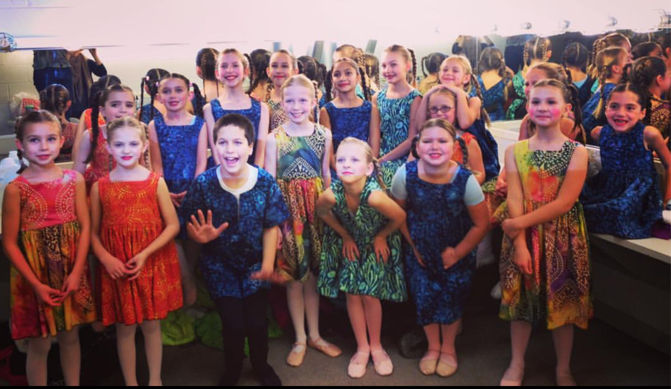 Ballet 5:8 School of the Arts students, including Spencer Petrik, get ready to perform as South African Children in  Beyond the Nutcracker