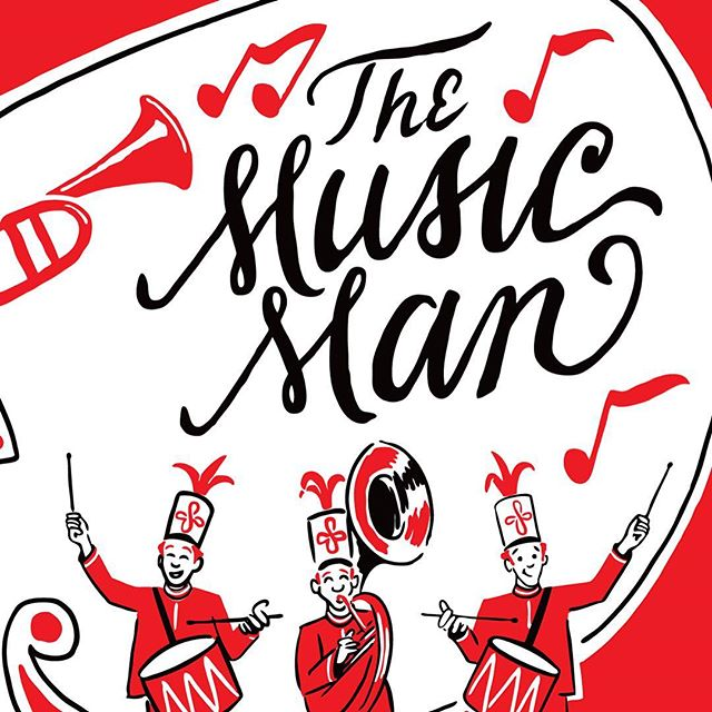 The first musical I was ever in was The Music Man. I was the youngest cast member and it was 30 years ago in Medicine Hat. Without me, there would have only been 75 trombones to lead the big parade. It was a good childhood memory. It was also the only time in my life that I was in a boy band, ha ha! #carriagehousetheatre #musicaltheatre #themusicman #cardston #explorecardston #lettering #illustration #uppercasecreative