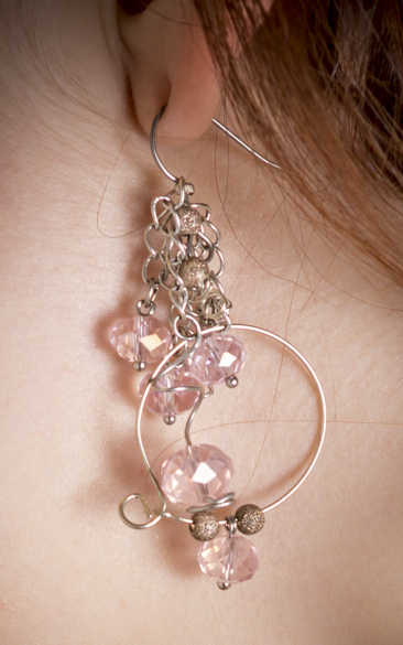 Earrings made by my lovely Aunt!