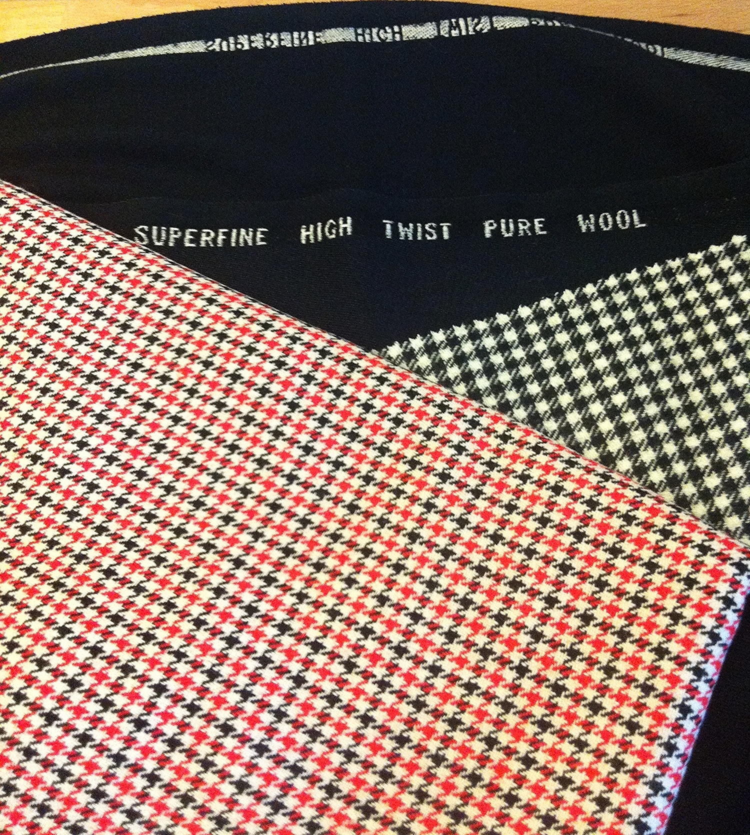 The other fabric featured, the black & white shepherd's check,  has become a super cute pair of shorts to be featured in another post