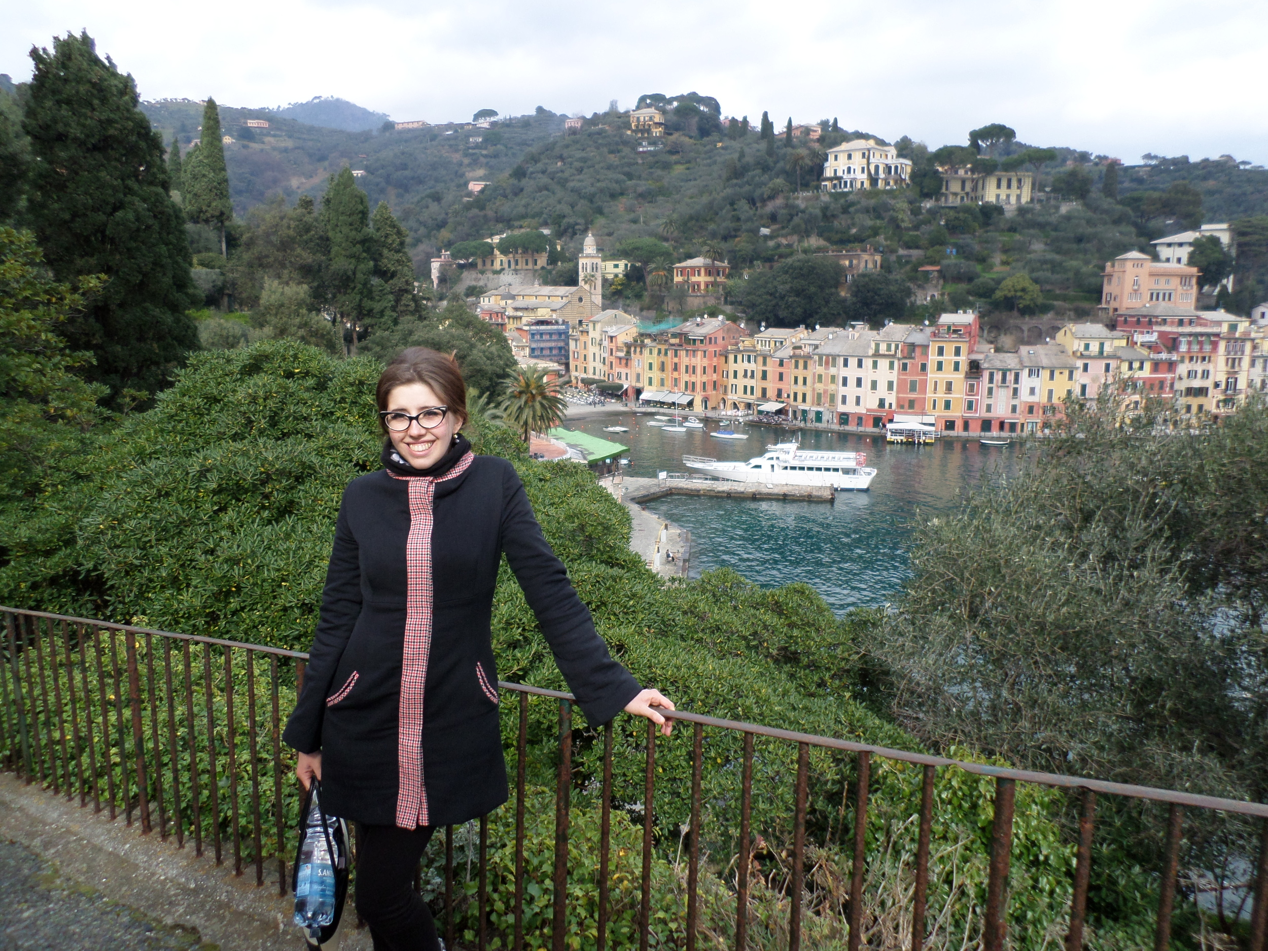 Fitting in (I hope!) with the gorgeous Portofino landscape.