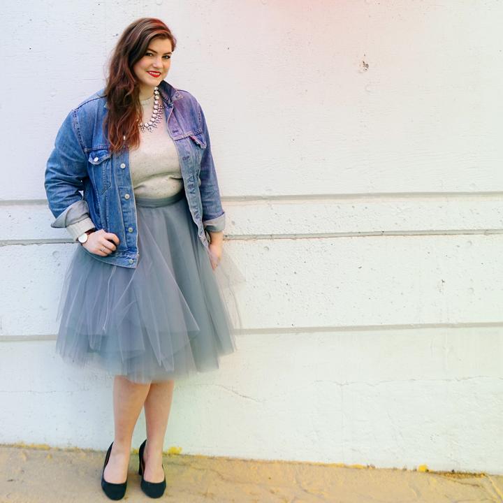 Fluffy Grey Tulle Skirt Vertigo Go 2016 -2.jpg