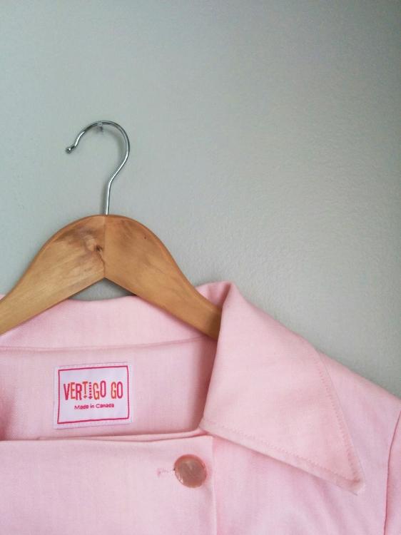 Rockford Peaches Uniform close up. Made by Vertigo Go.