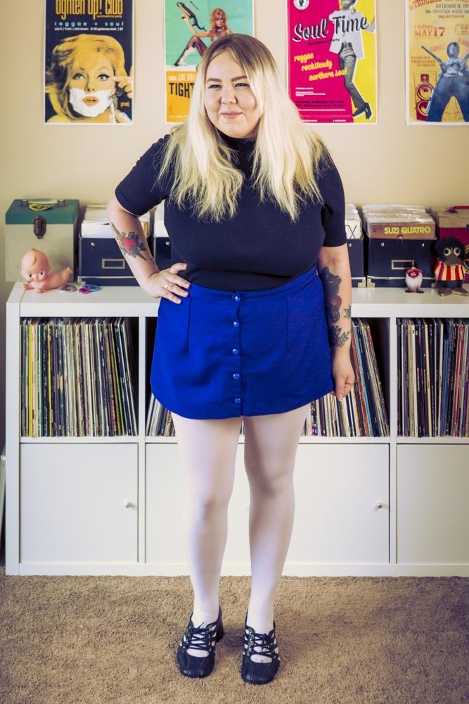 Custom Button Up Tonic Wool Skirt by Vertigo Go